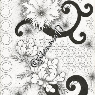 Fleurs & nid de guêpes